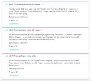 Bist du fit für die AEVO Prüfung? Teste dich mit über 300 Fragen!