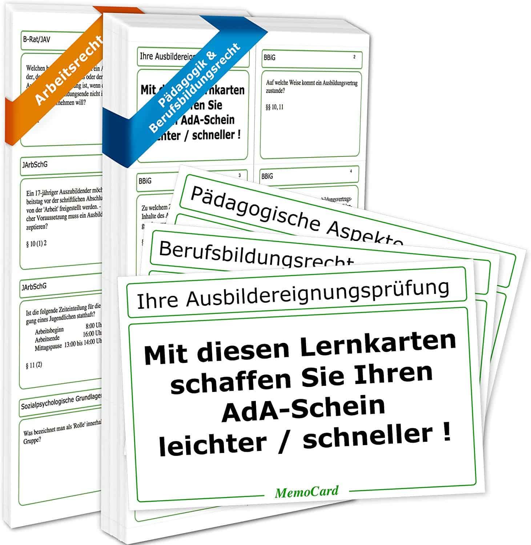 AEVO-Lernkartei: 380 Lernkarten zur Prüfungsvorbereitung von memoPower